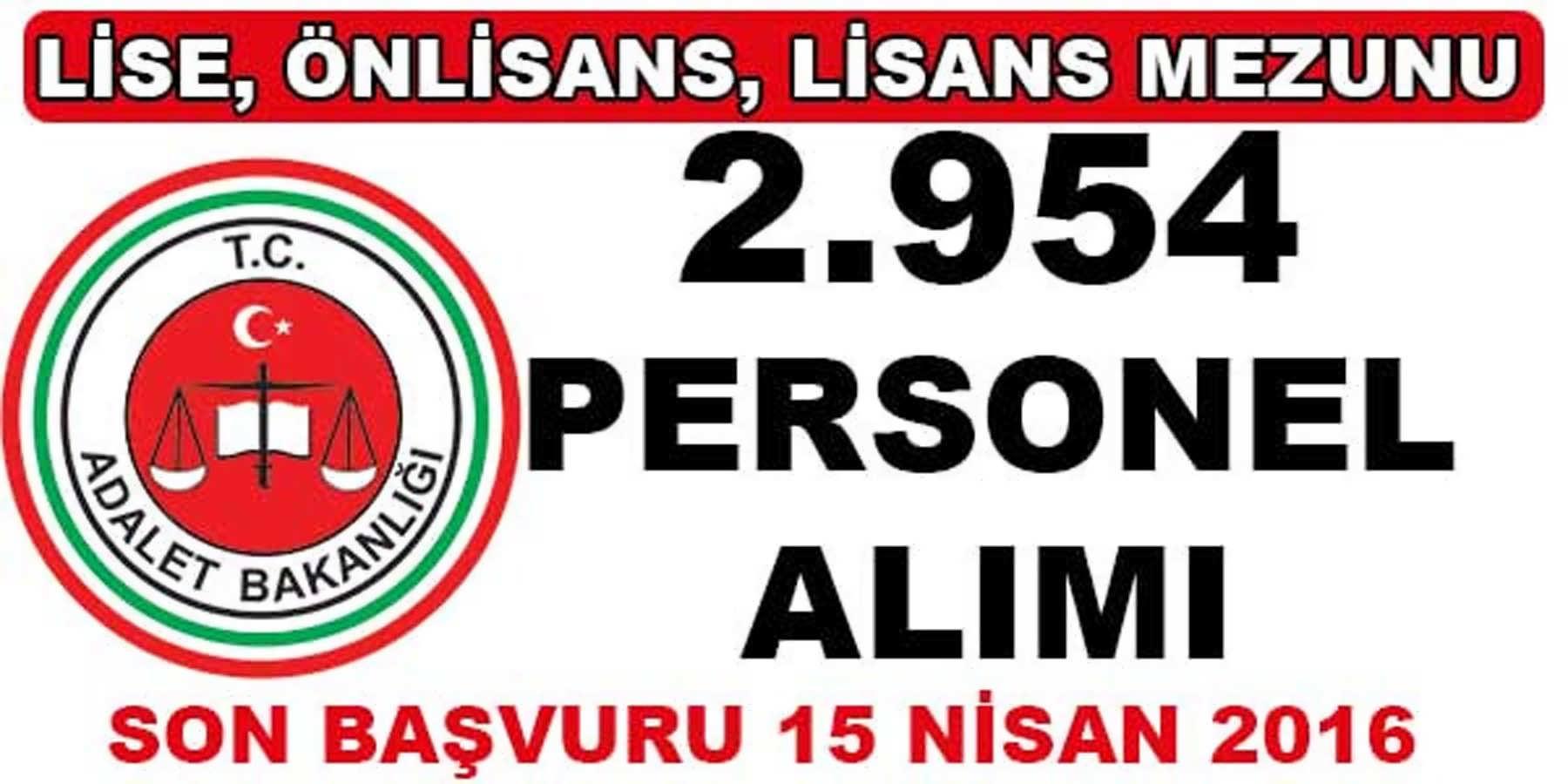 Adalet Bakanlığı Beklenen İlanı Yayınladı Tam 2.954 Personel Alımı Yapılacak