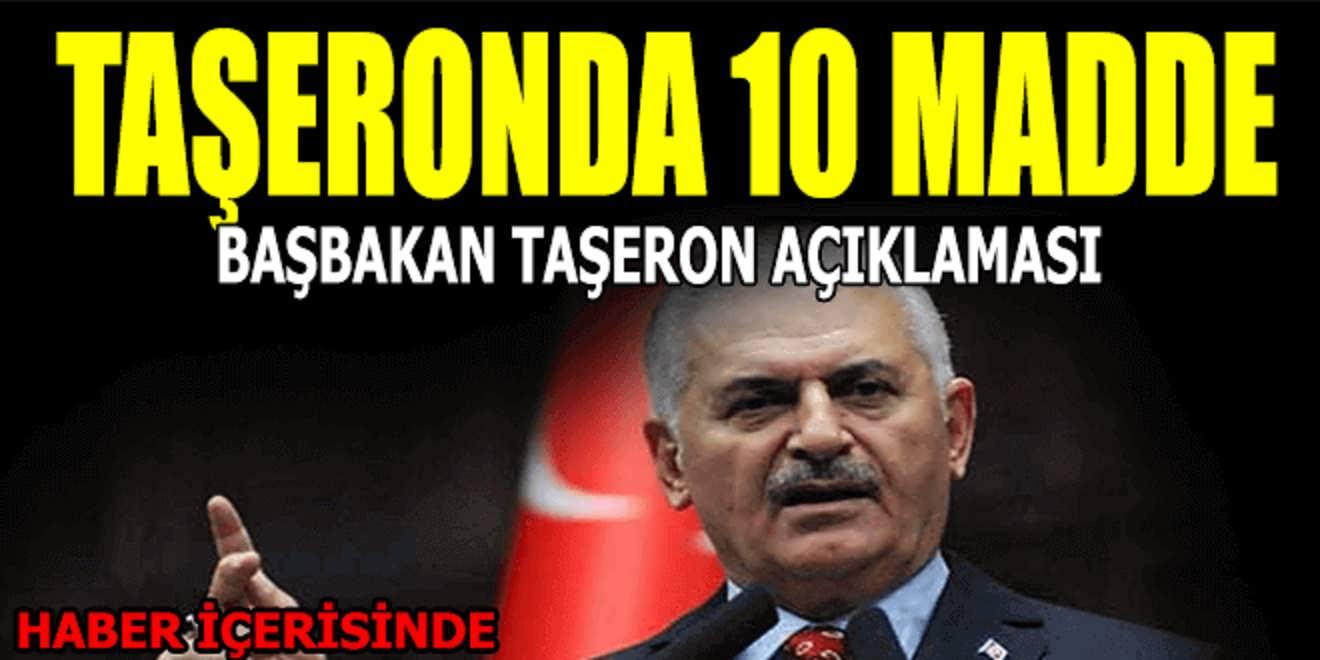Başbakan Yıldırım Taşeron Açıklaması 10 Madde Tamam