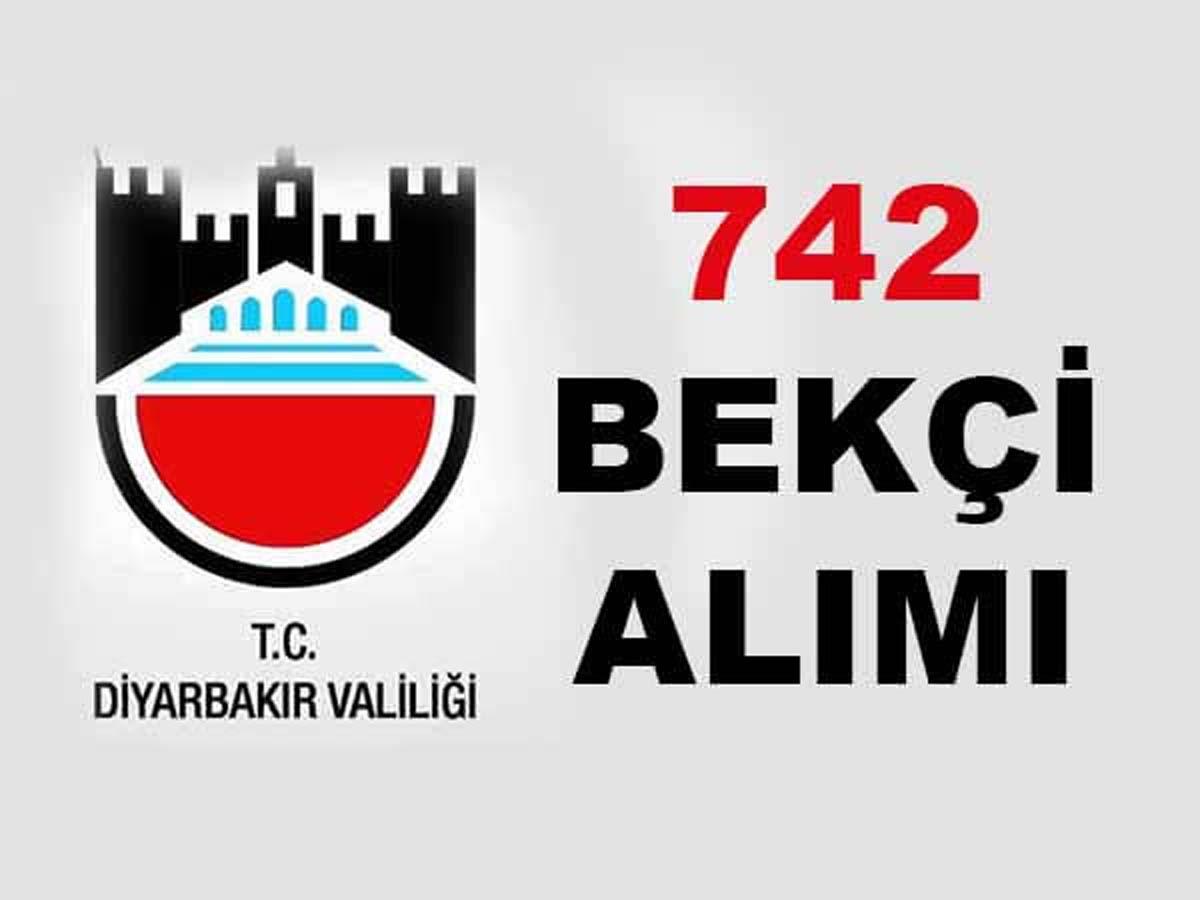Diyarbakır Valiliği ve Kaymakamlıkları 742 Bekçi Alımı 2016