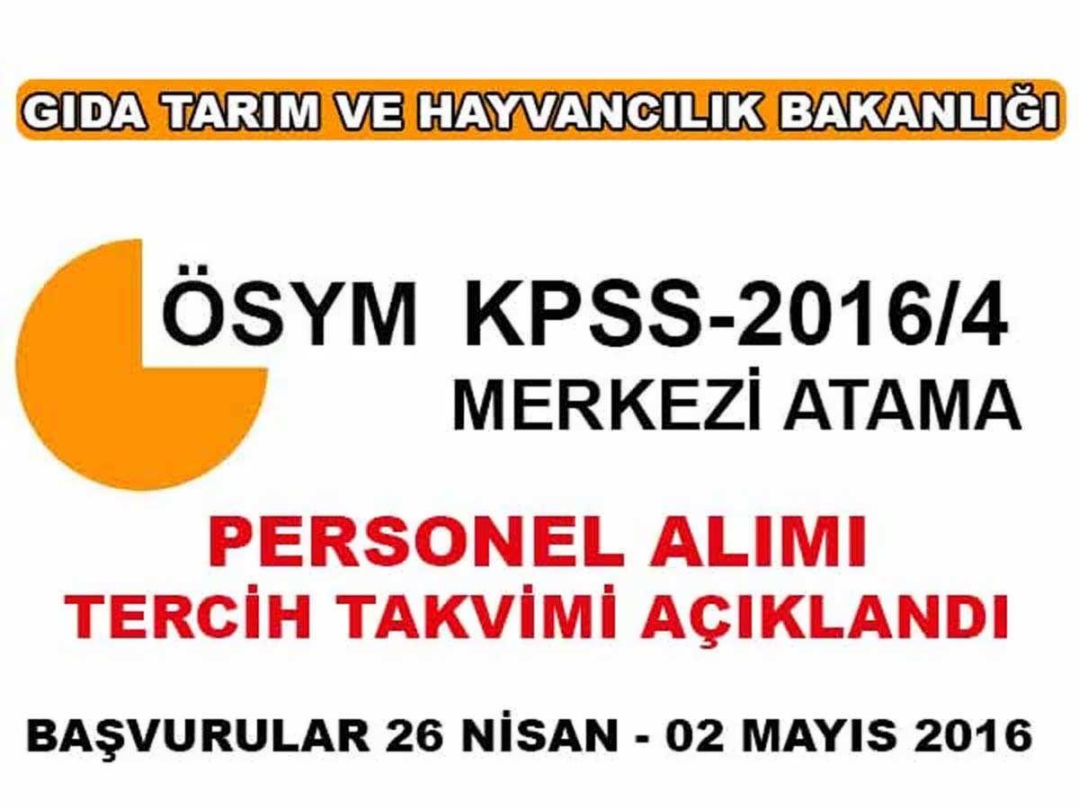 KPSS 2016/4 Merkezi Atama Takvimi Yayınlandı