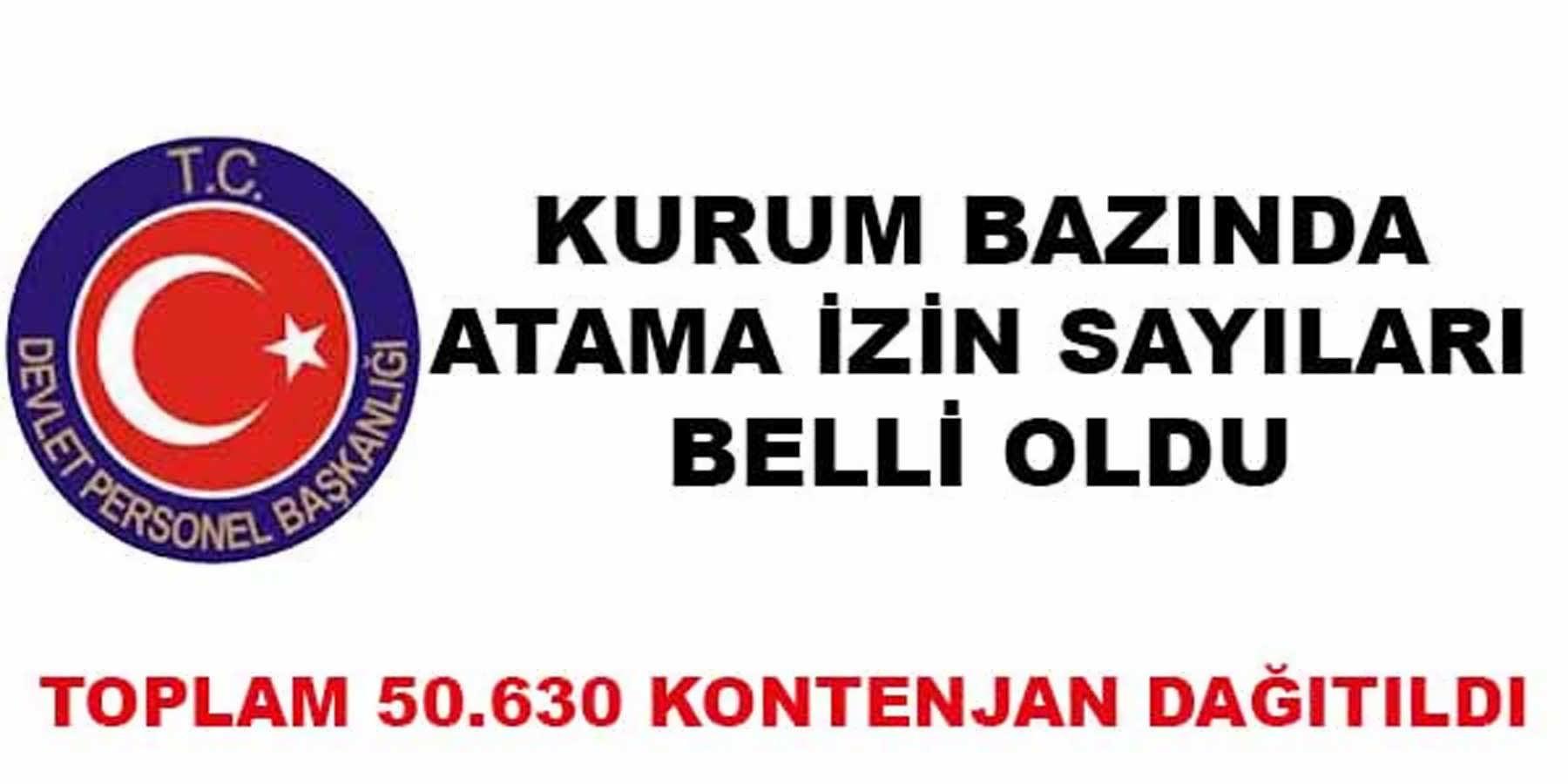 2016 Yılında 50 Bin 630 Atama Kontenjanı Belirlendi