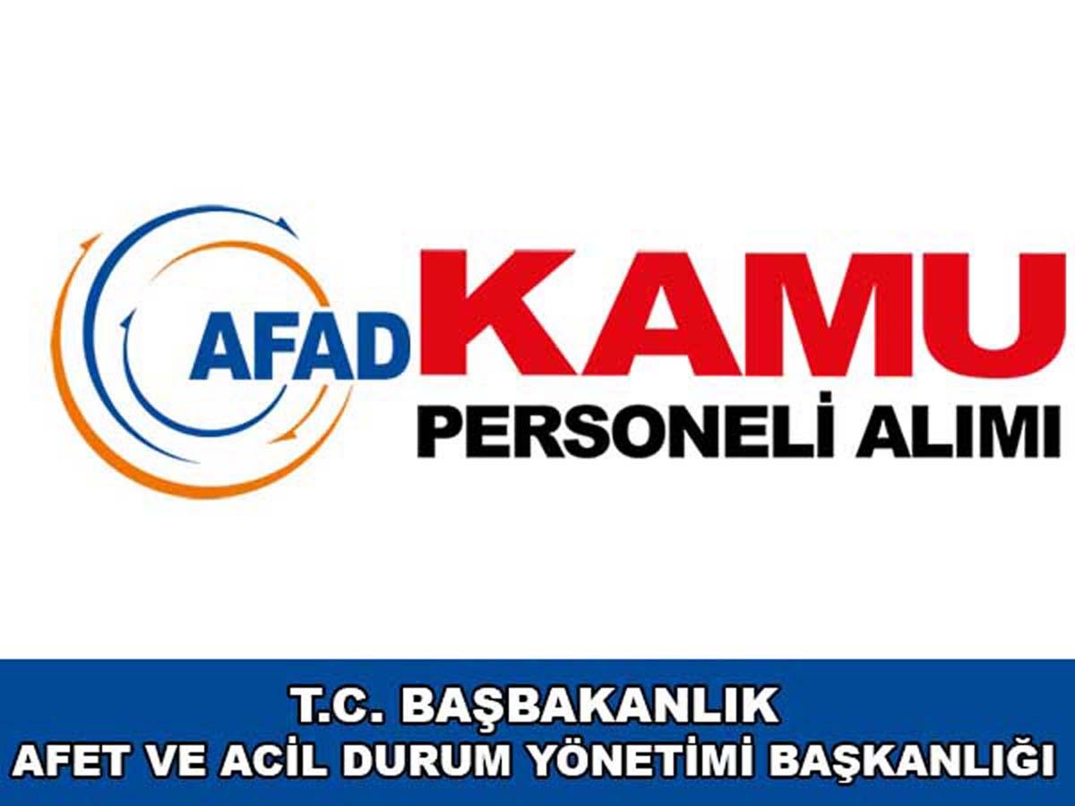 AFAD Kamu Personeli Alımı 2016
