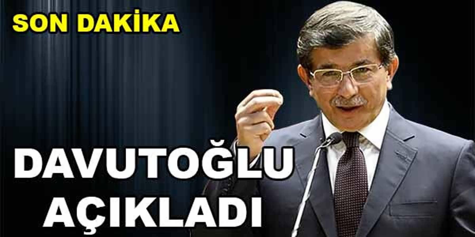 Başbakan Ahmet Davutoğlu Beklenen Açıklamayı Yaptı