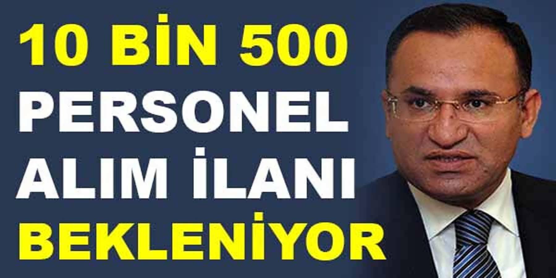 Adalet Bakanlığı 10 Bin 500 Personel Alımı İlanı Bekleniyor