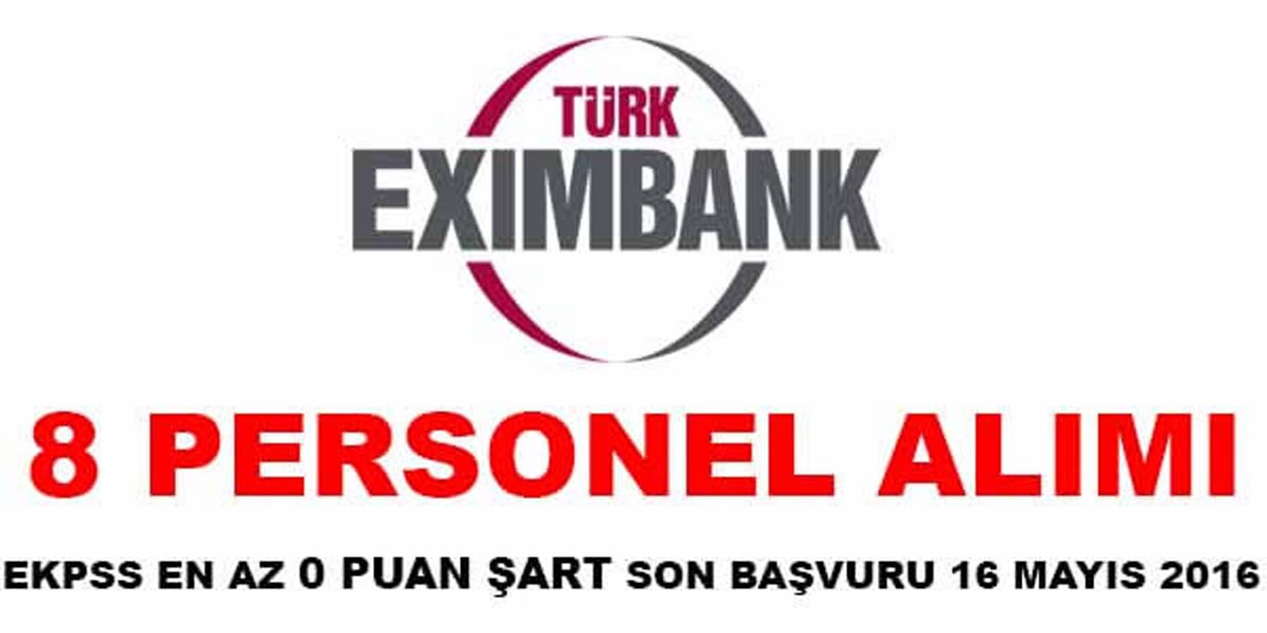 Türk Eximbank Personel Alımı