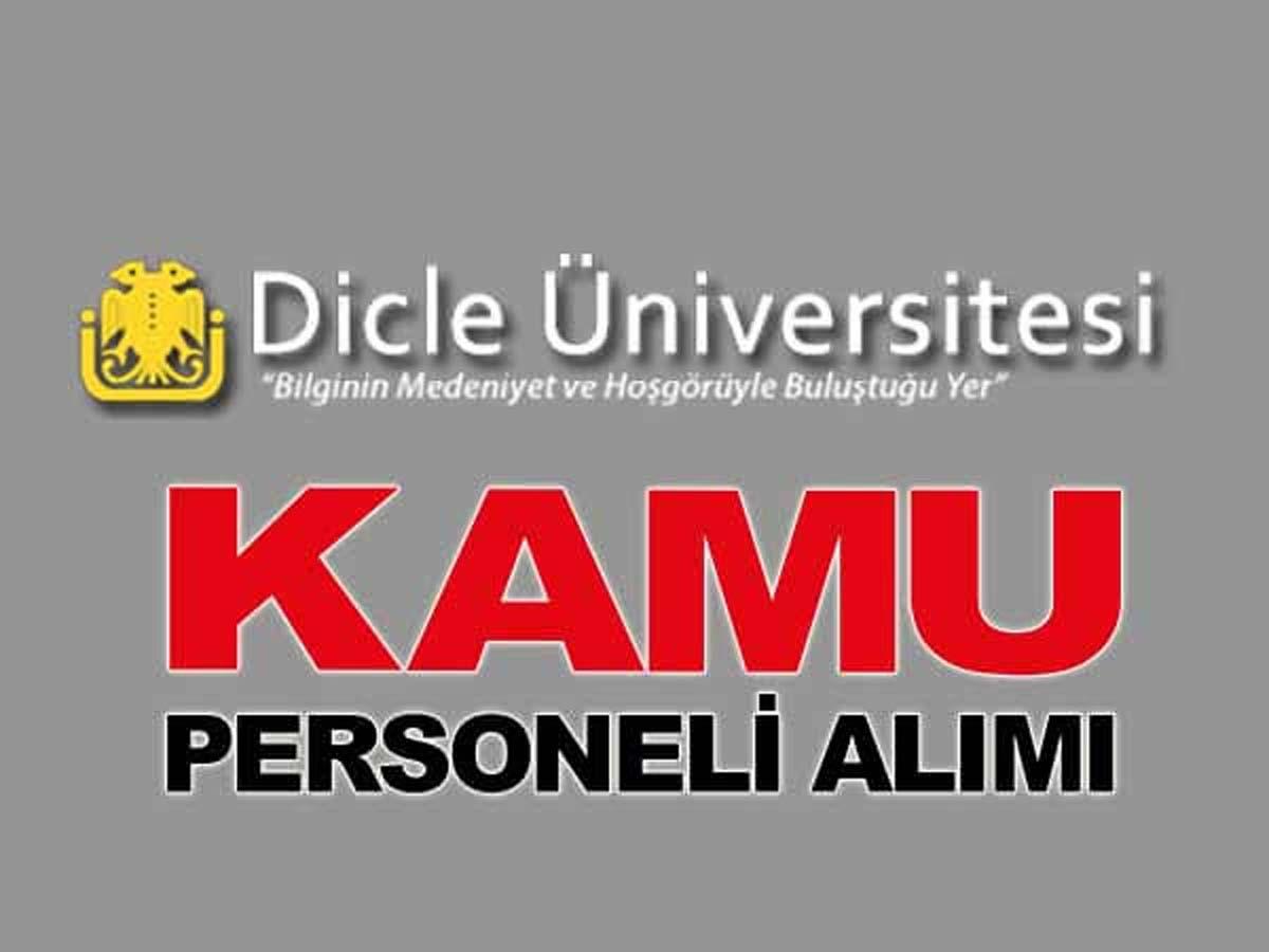 Dicle Üniversitesi Sözleşmeli Personel Alımı