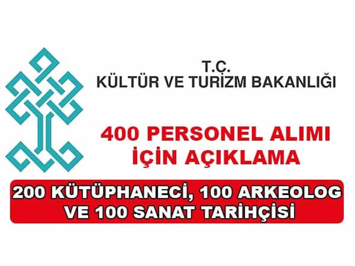 Kültür ve Turizm Bakanlığı Önemli Duyuru Yayınladı