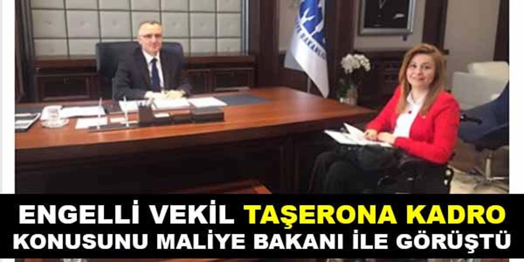 Engelli Milletvekili Taşerona Kadro İşini Naci Ağbal İle Görüştü