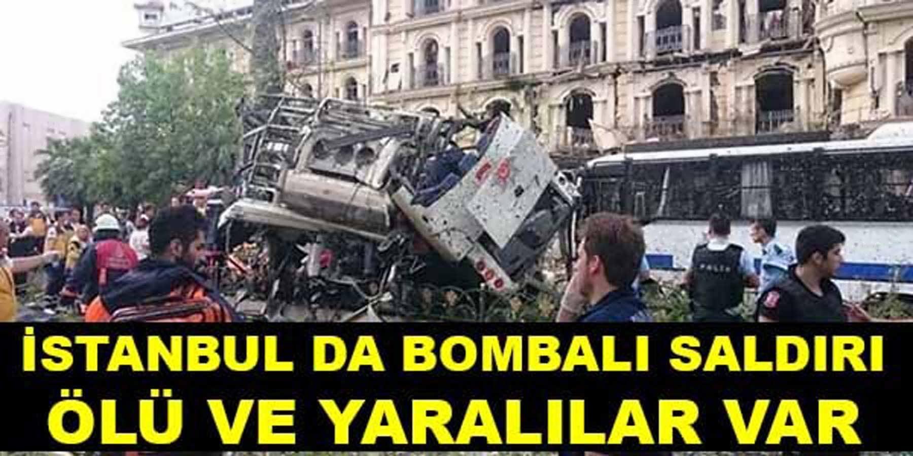 İstanbul Fatih'te Polise Bombalı Saldırı Ölü ve Yaralılar Var
