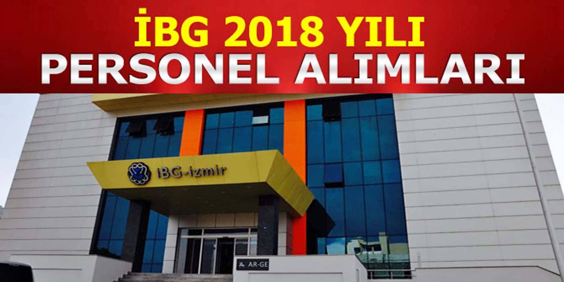 İBG 2018 Yılı Personel Alımları