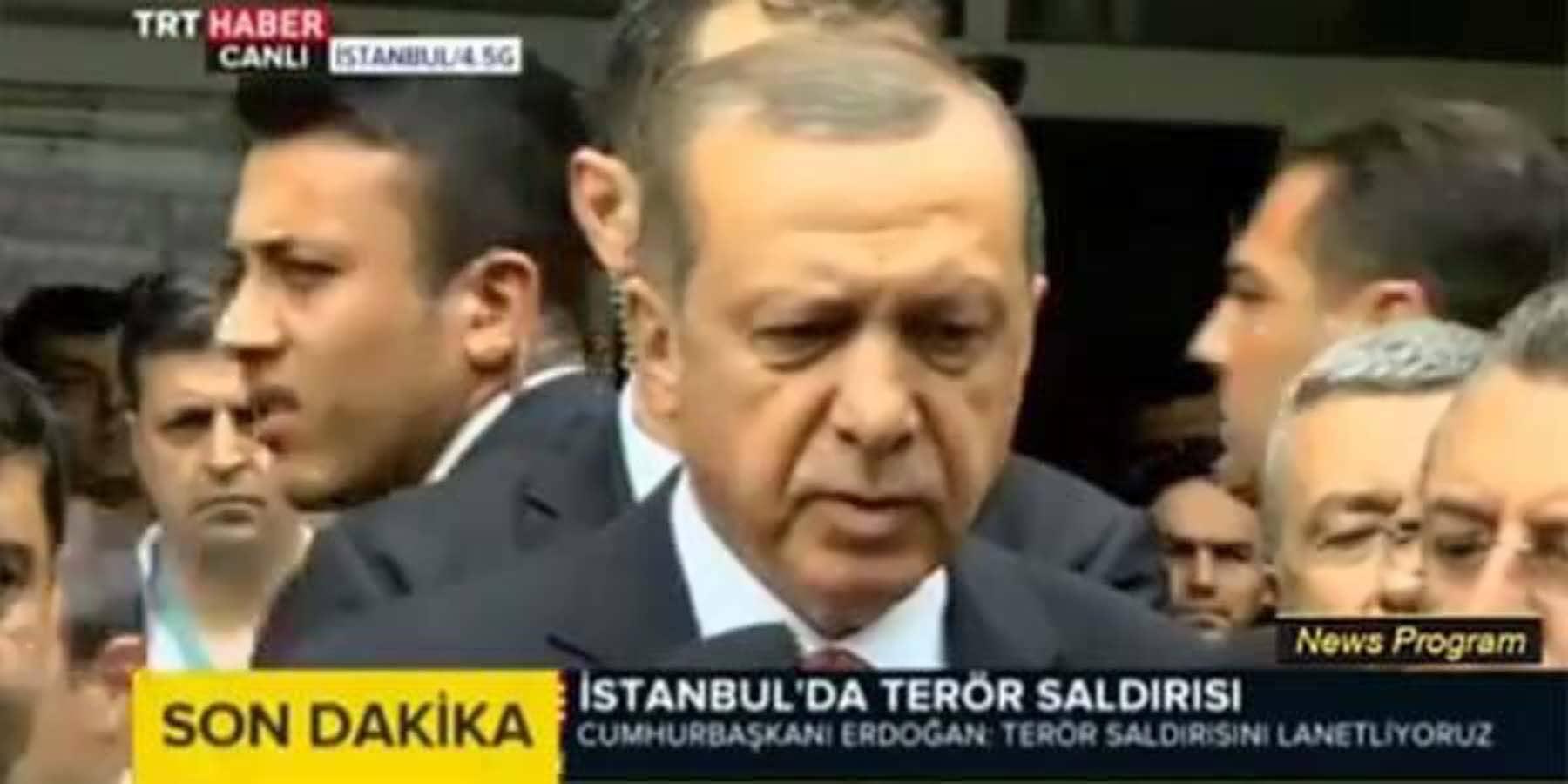 Cumhurbaşkanı Erdoğan'dan Beyazıt Saldırı Açıklaması