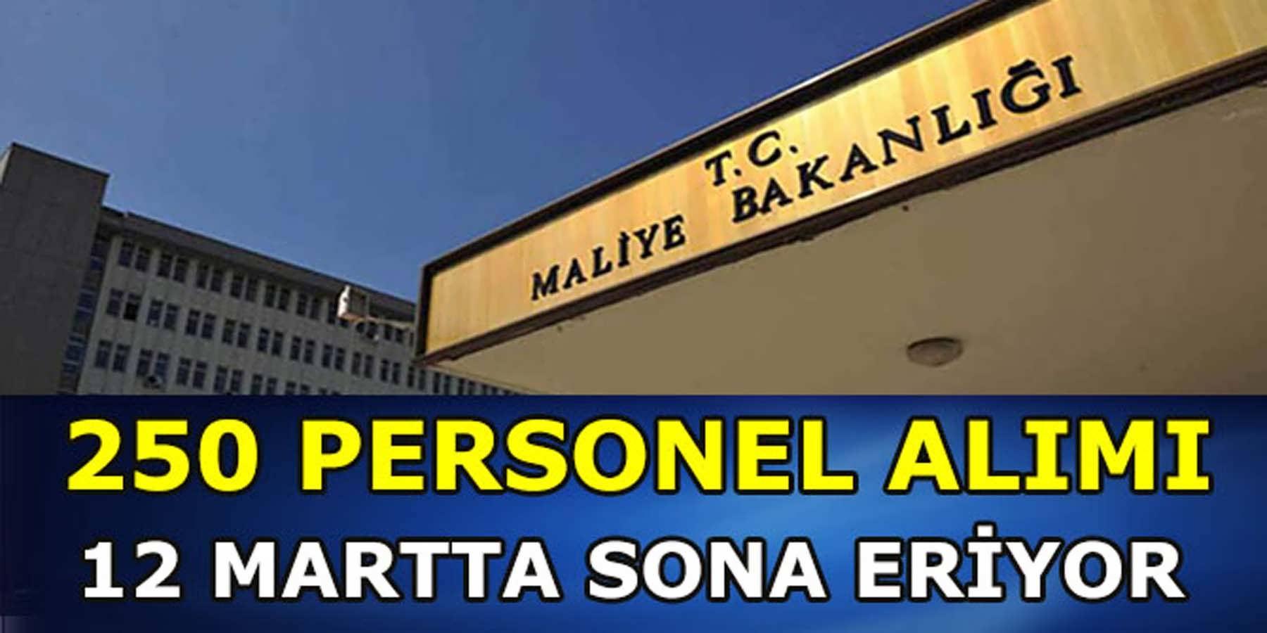 Maliye Bakanlığı (MASAK) 250 Personel Alımı 12 Martta Bitiyor