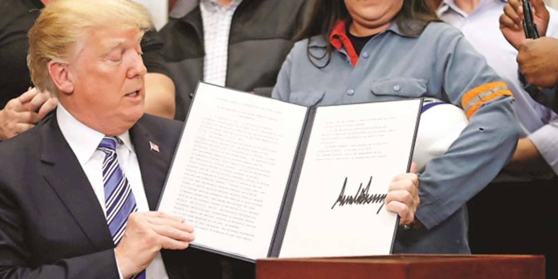 Trump Tepki Çeken Tarifeleri İmzaladı