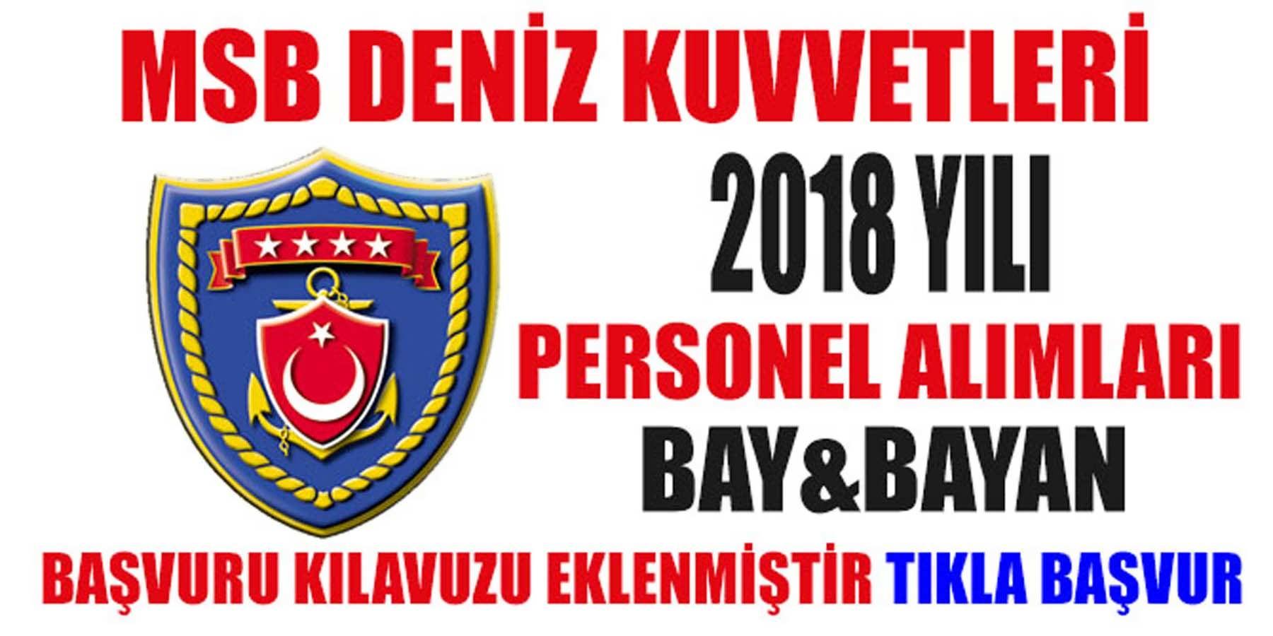 Deniz Kuvvetleri Komutanlıkları 2018 Yılı Personel Alımları