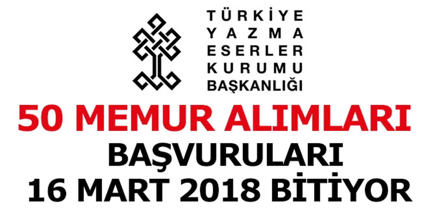 Türkiye Yazma Eserler Kurumu 50 Sözleşmeli Personel Alımları Yarın Bitiyor
