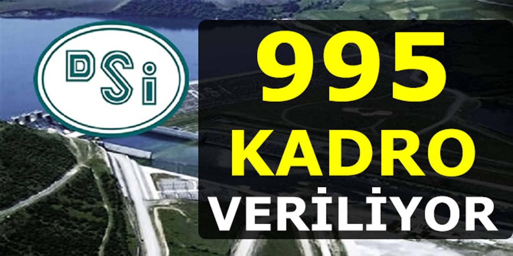 Devlet Su İşlerine 995 Kadro İzini Veriliyor