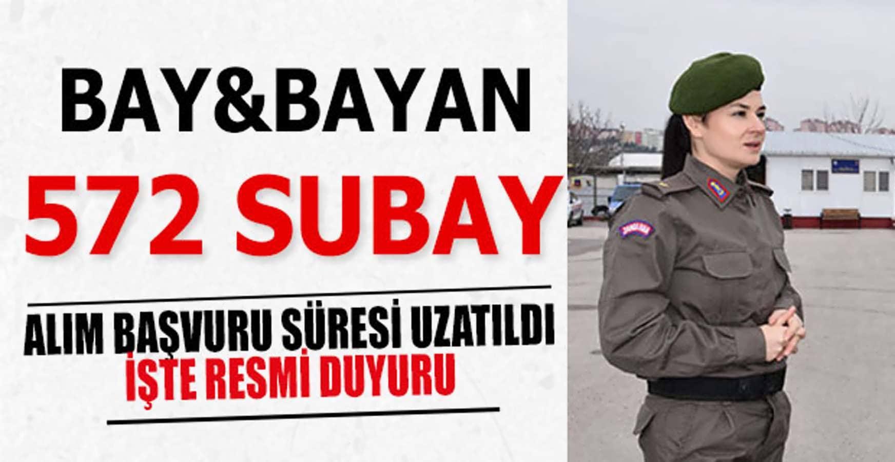 JGK Subay Bay/Bayan Alım Başvuru Süresi Uzatıldı