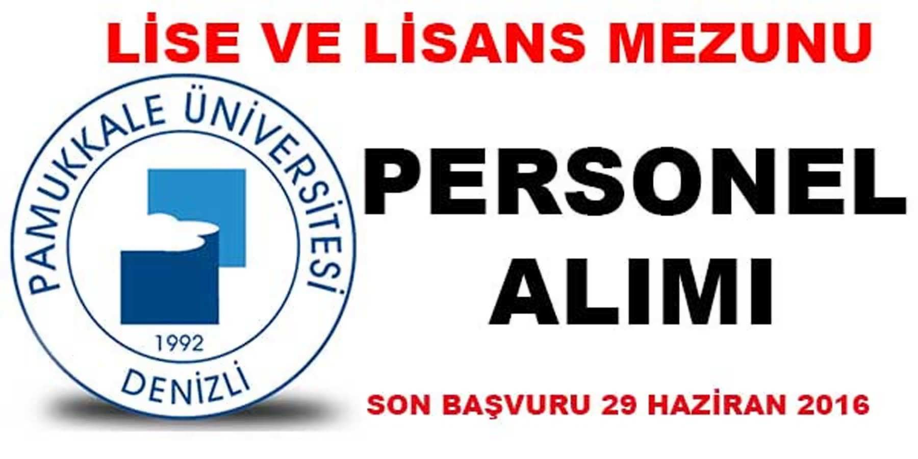 Pamukkale Üniversitesi Kamu Personeli Alımı