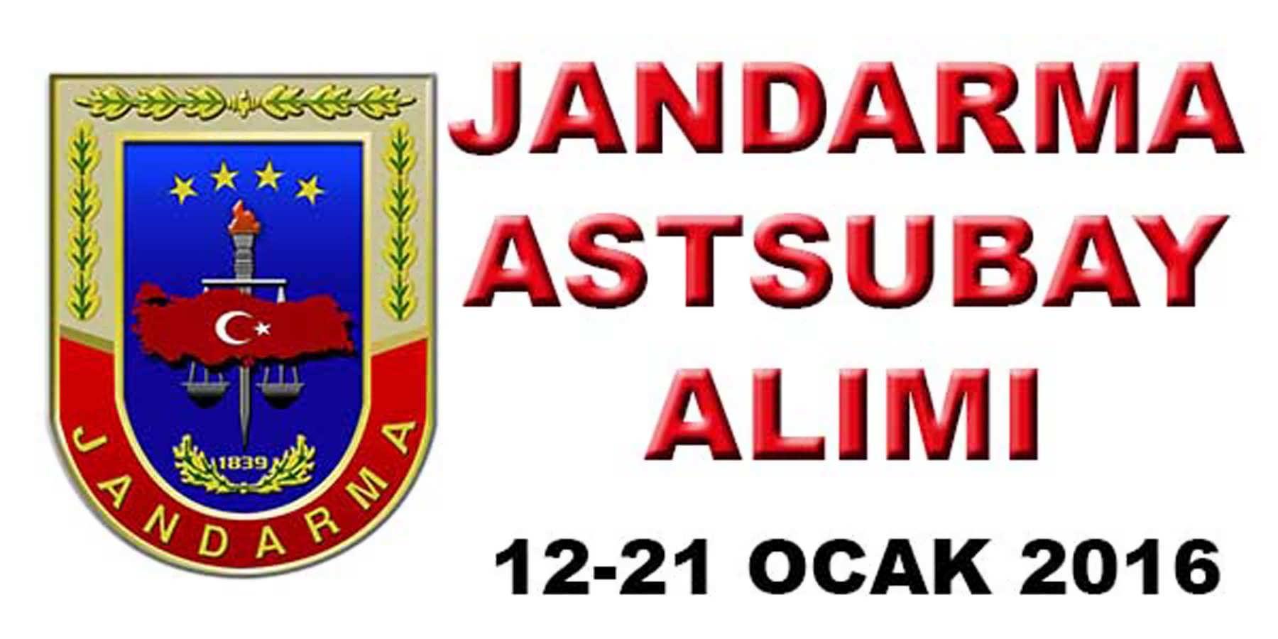 Jandarma Astsubay Alımı 2016 Başladı