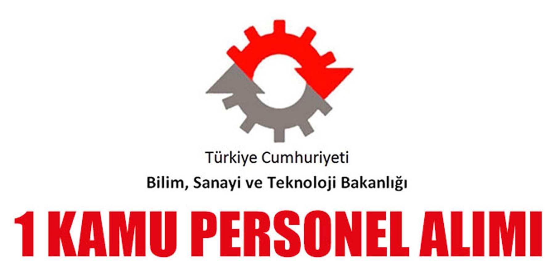 Bilim Sanayi Ve Teknoloji Bakanlığı Sistem Uzmanı Alımı