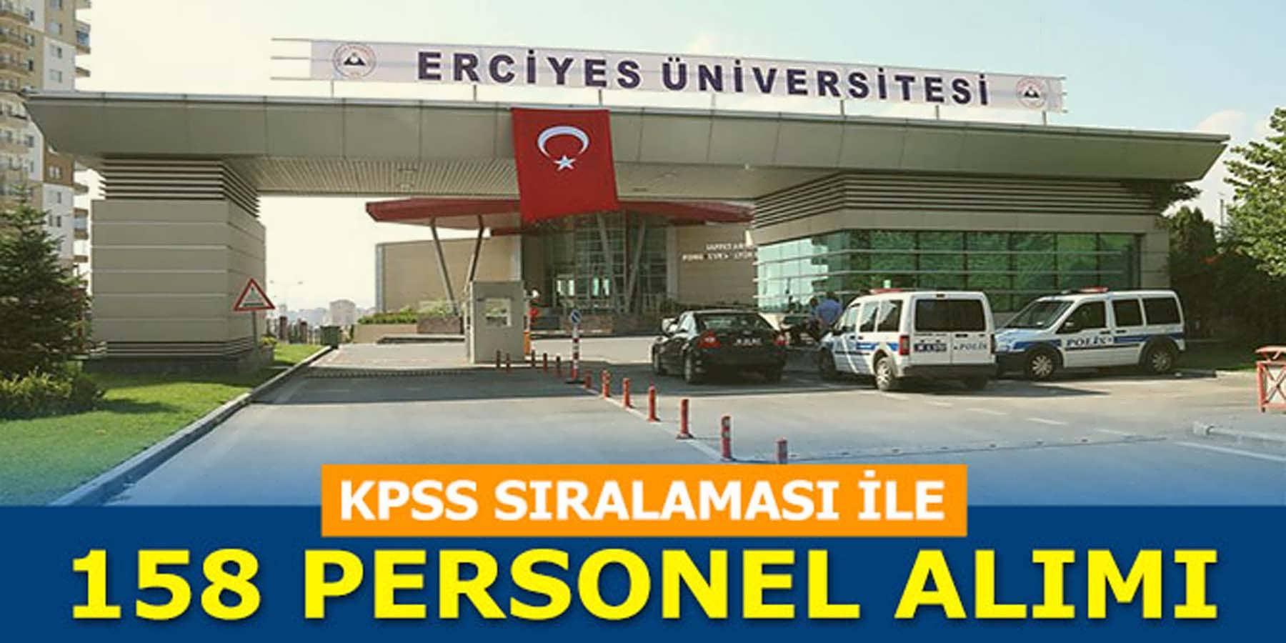 Erciyes Üniversitesi 158 Sağlık Personeli Alımı