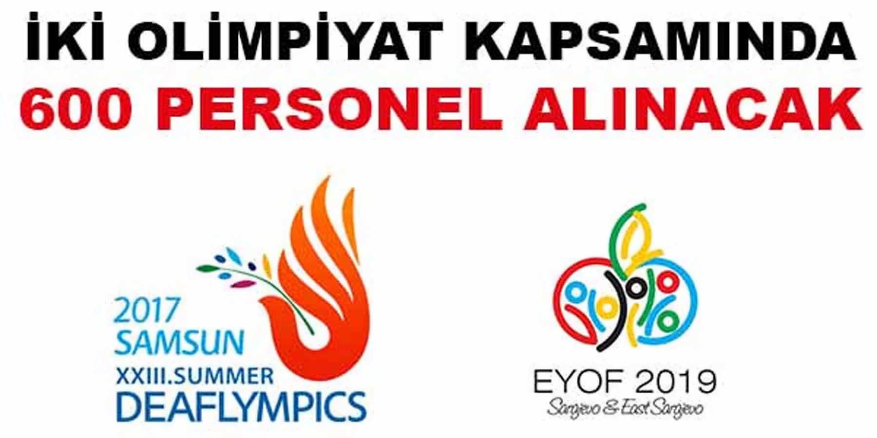 Olimpiyat ve Yaz Oyunları İçin 600 Personel Alınacak