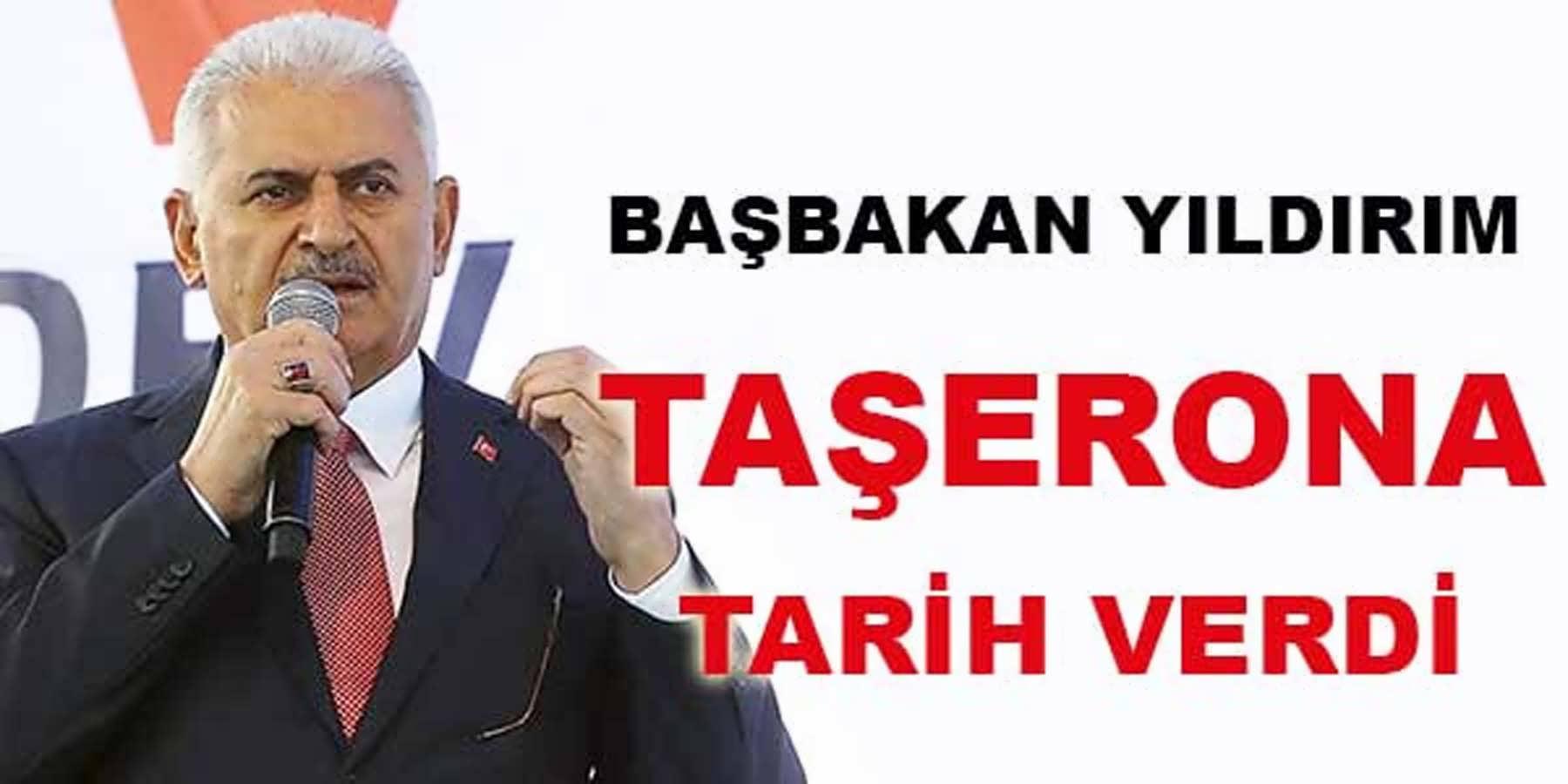 Başbakan Yıldırım Taşerona Kadro İçin Tarih Verdi