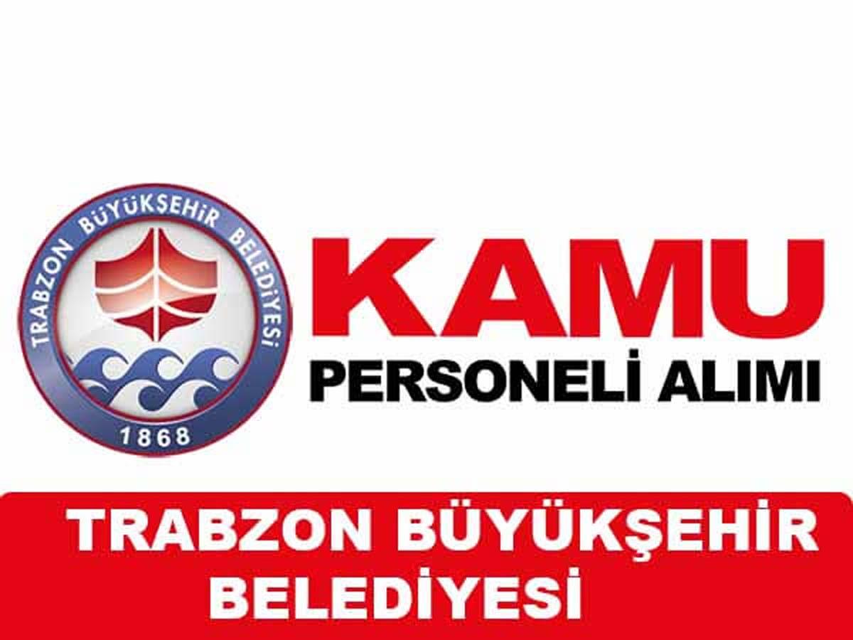 Trabzon Büyükşehir Belediyesi  Engelli Personel  Alımı