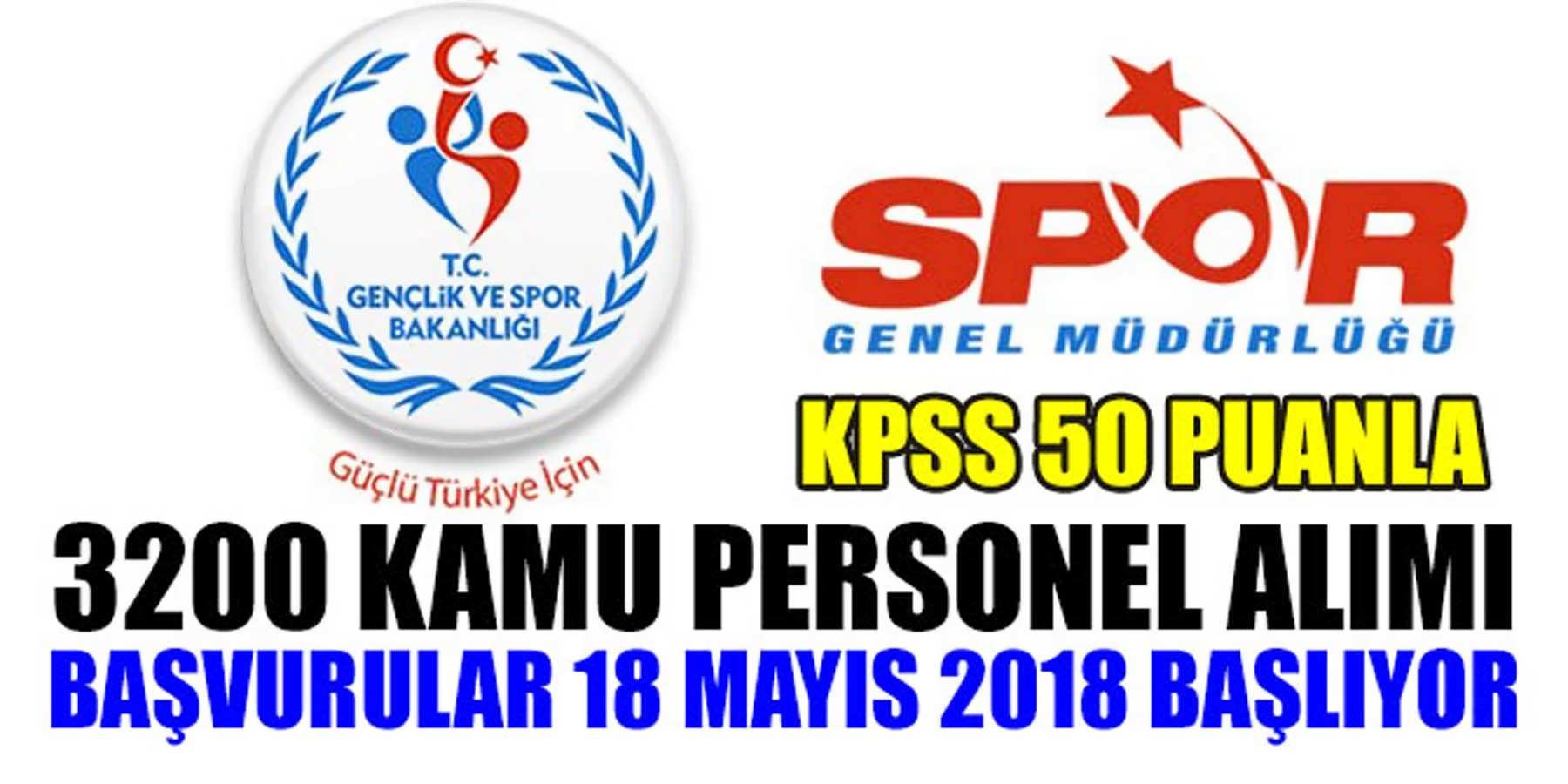 Gençlik Bakanlığı KPSS 50 Puanla 3 Bin 200 Personel Alımı Başlıyor!