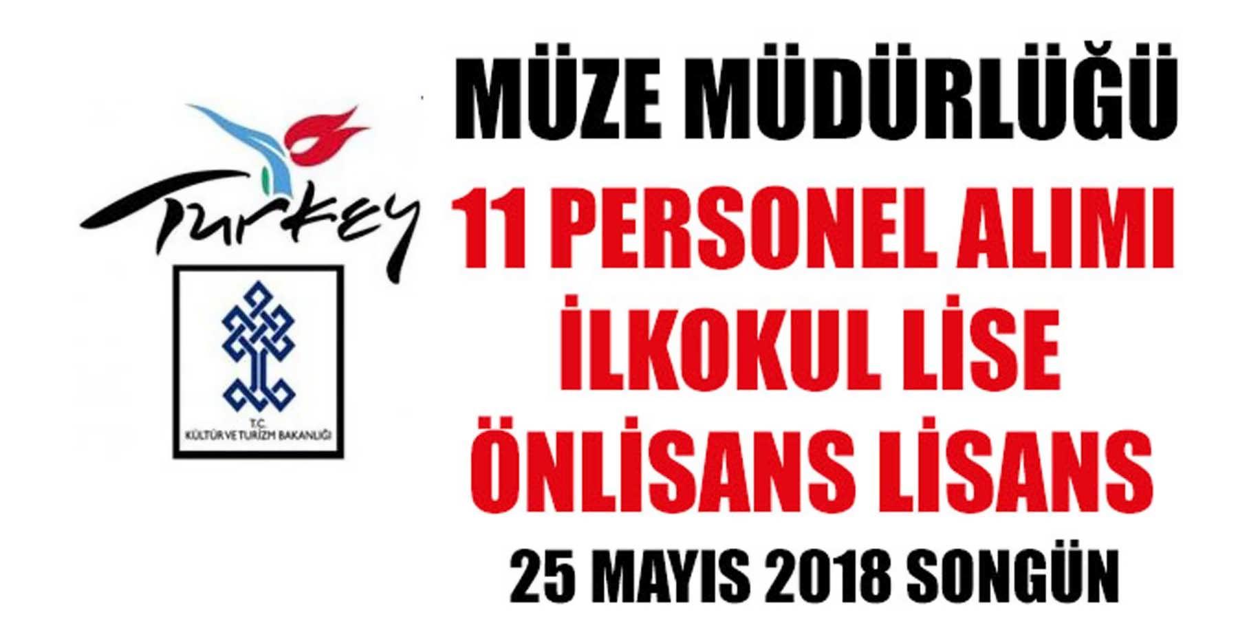 Müze Müdürlüğü KPSS'SİZ 11 Personel Alımı