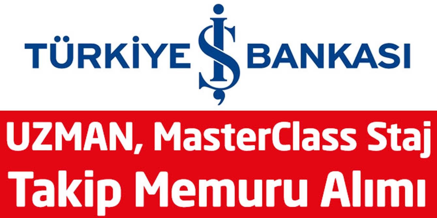 İş Bankası Mayıs Ayı Personel Alımları