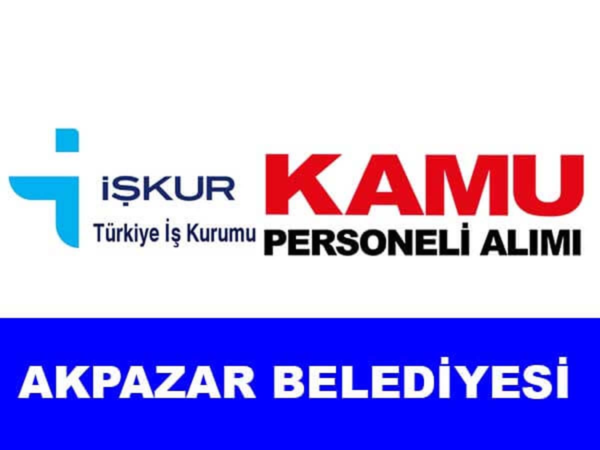 Akpazar Belediye Başkanlığı Personel Alımı