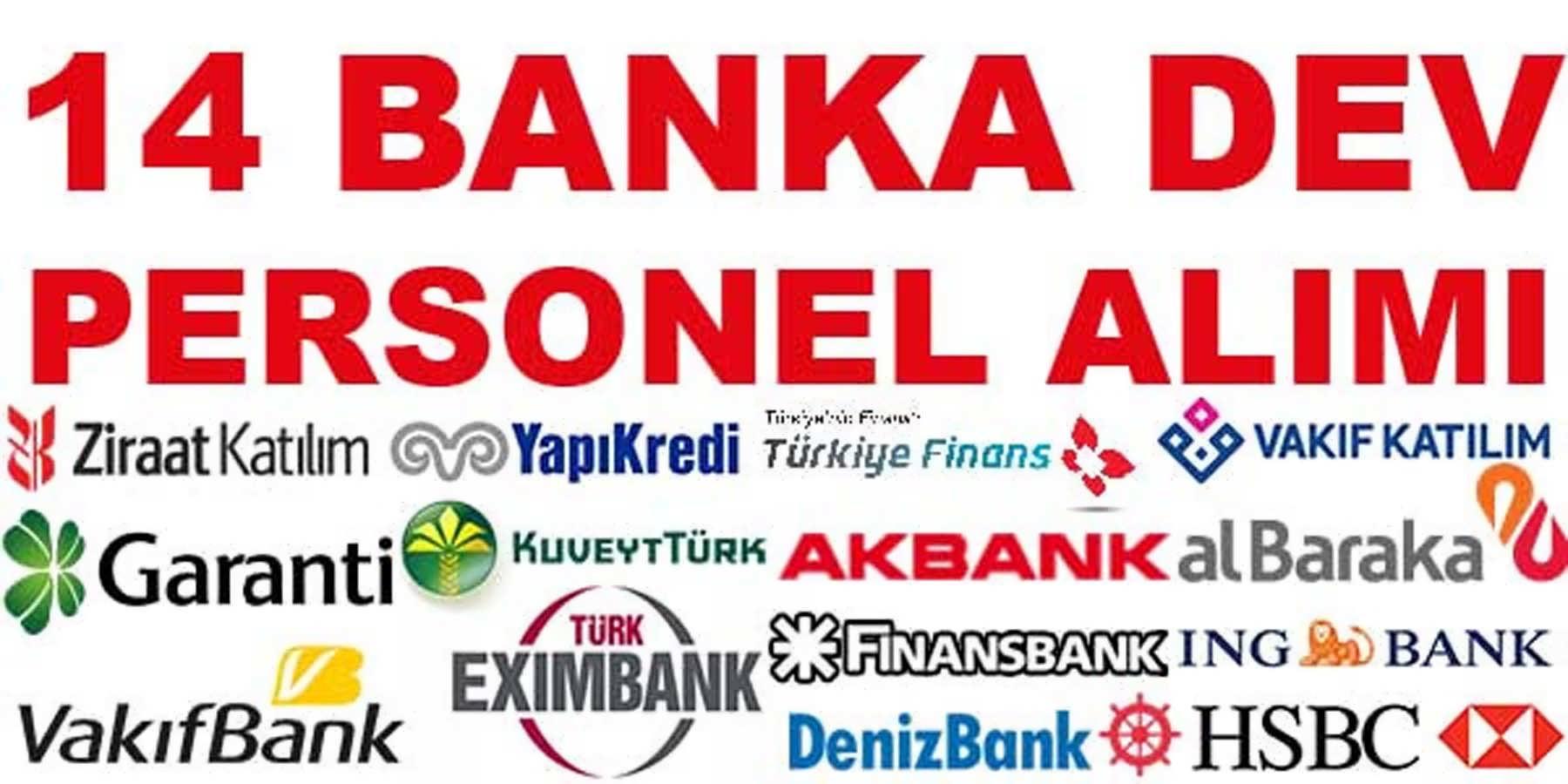 14 Banka Dev Personel Alımı Temmuz 2016