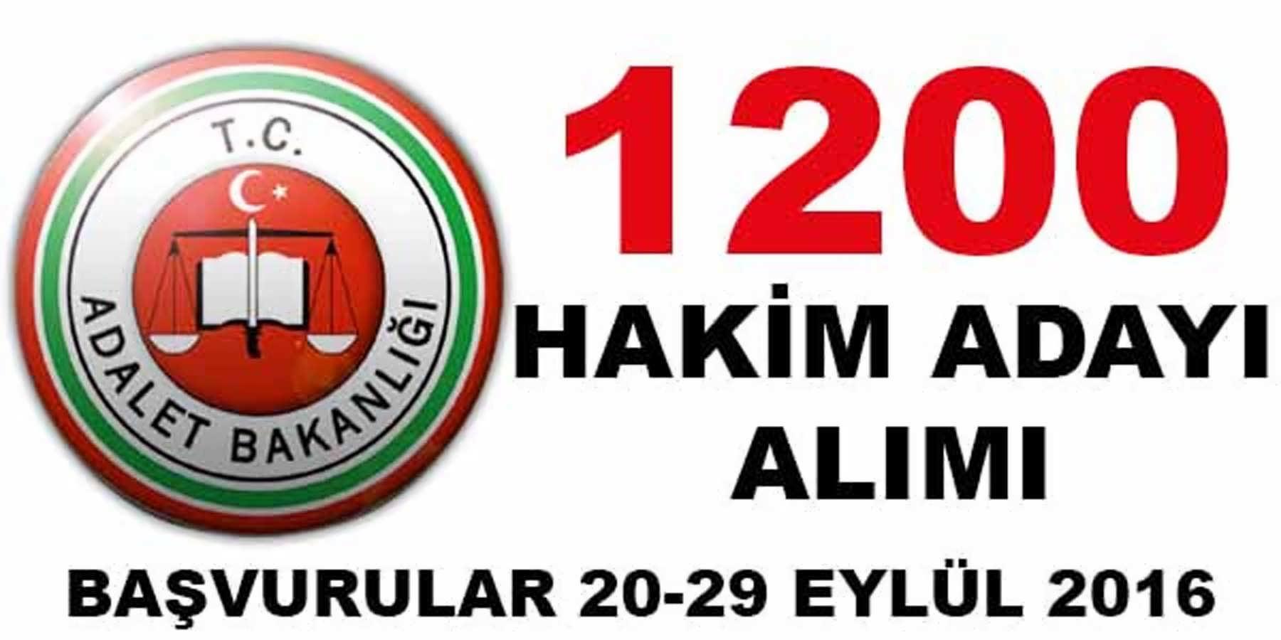 Adalet Bakanlığı 1200 Personel Alımı