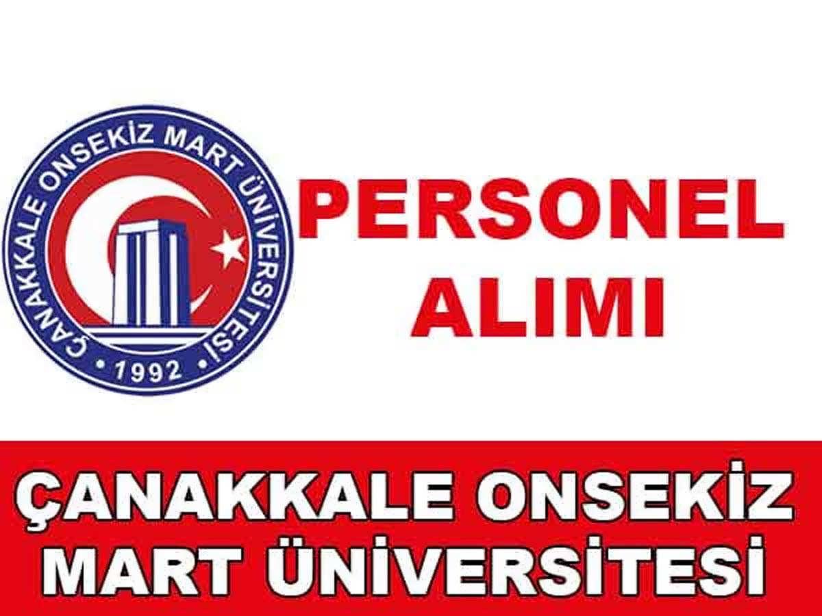 Çanakkale Onsekiz Mart Üniversitesi 26 Personel Alımı