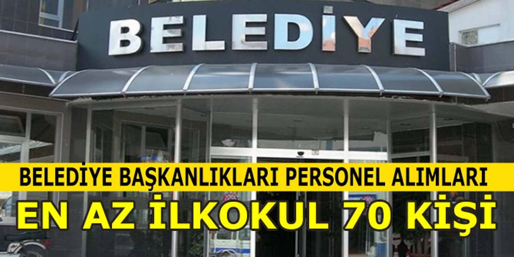Antalya 70 Personel Alımı İş İlanları