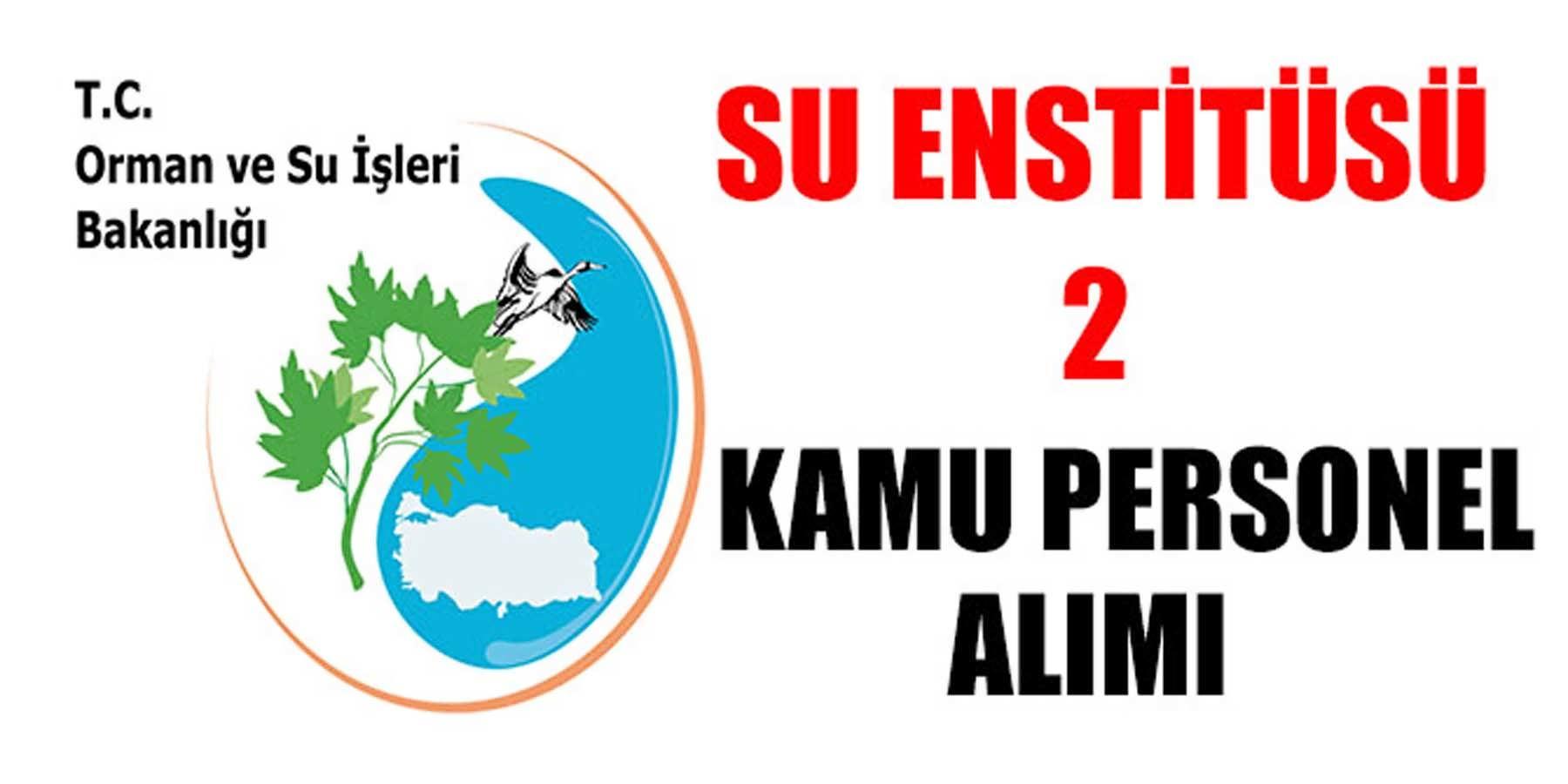 Orman ve Su İşleri Bakanlığı Su Enstitüsü 2 Kamu Personeli Alımı