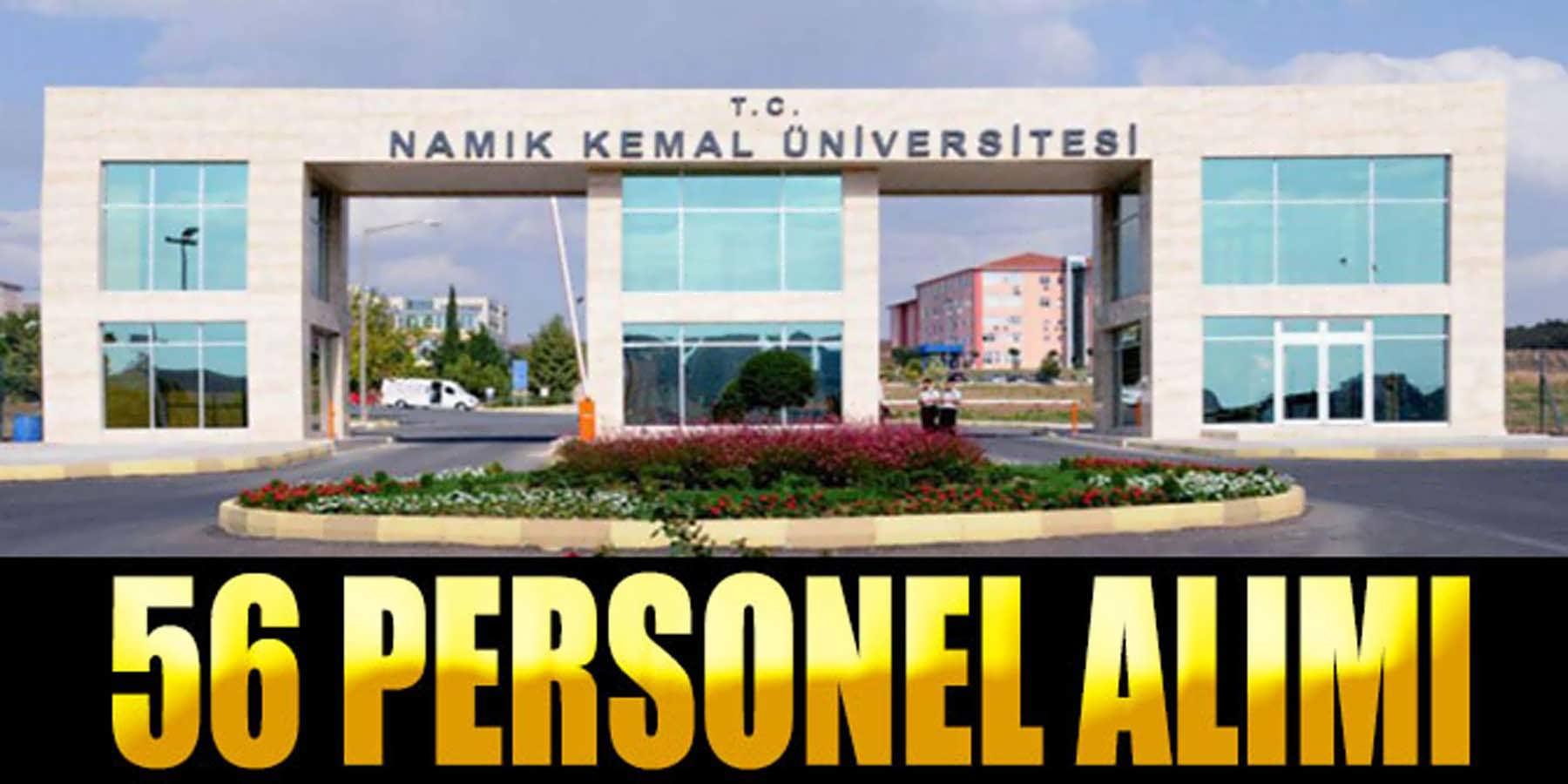 Namık Kemal Üniversitesi 56 Kamu Personeli Alımı