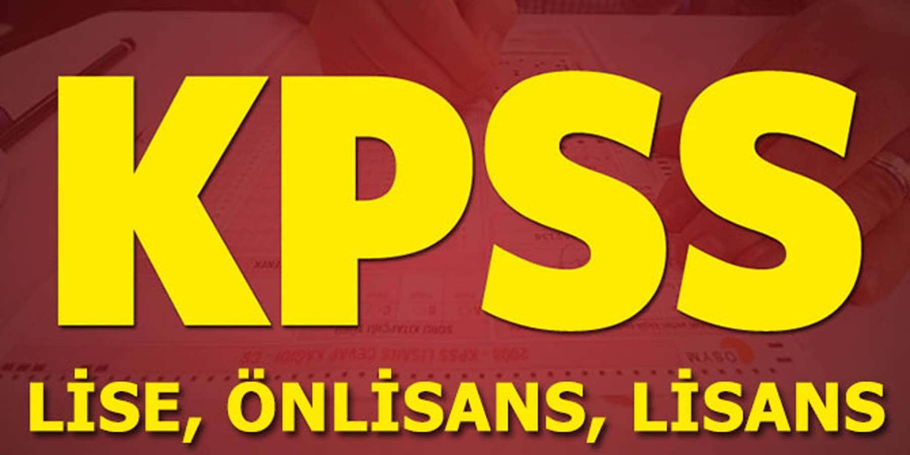 Lise Önlisans ve Lisans KPSS Sıralamaları Değişti
