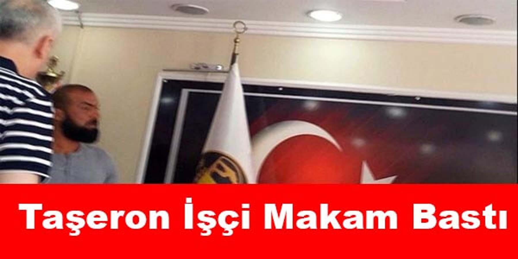 """Taşeron İşçisi Belediye Binasını """"Balta""""yla Bastı"""