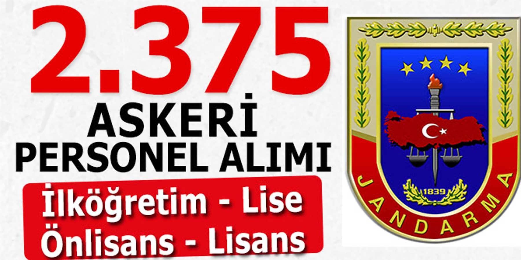 JGK 2375 Askeri Personel Alımı