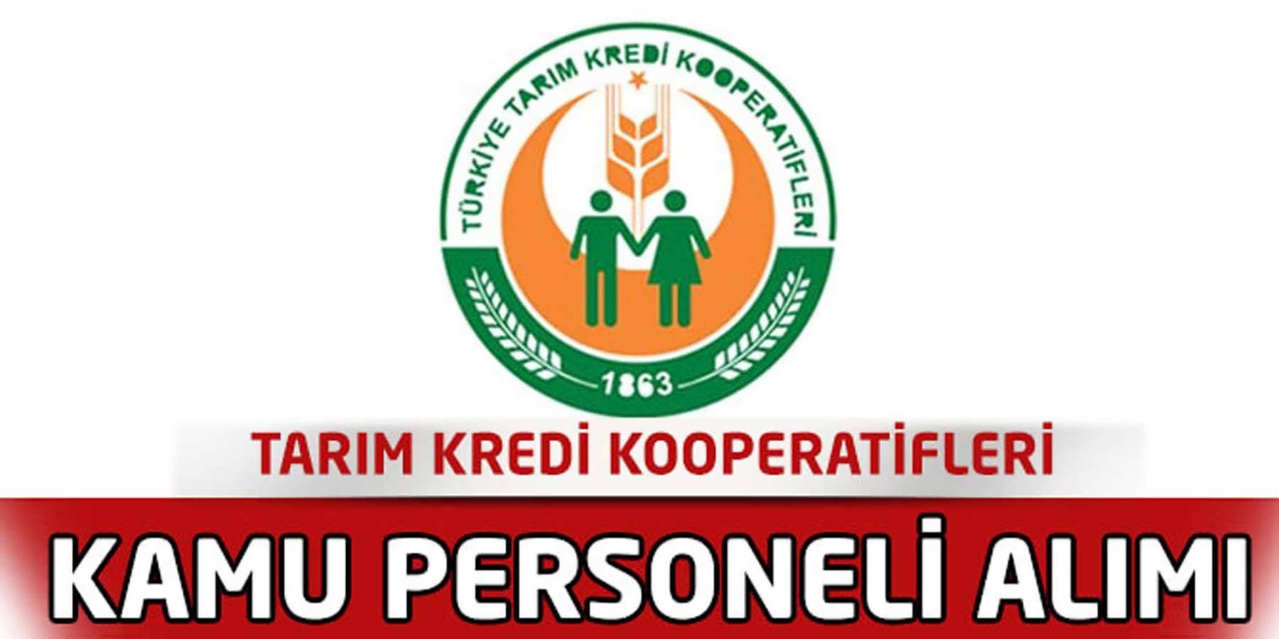 Tarım Kredi Kooperatifleri Memur Alımı