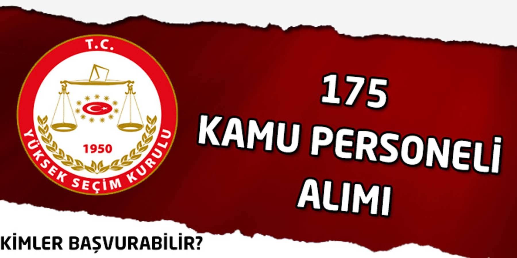 Yüksek Seçim Kurulu 175 Seçim Müdürü Alımı