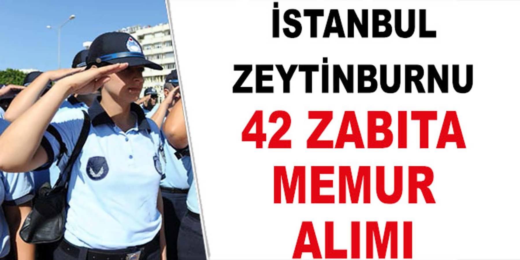 İstanbul Zeytinburnu Belediyesi 42 Zabıta Alımı (Bay Bayan)