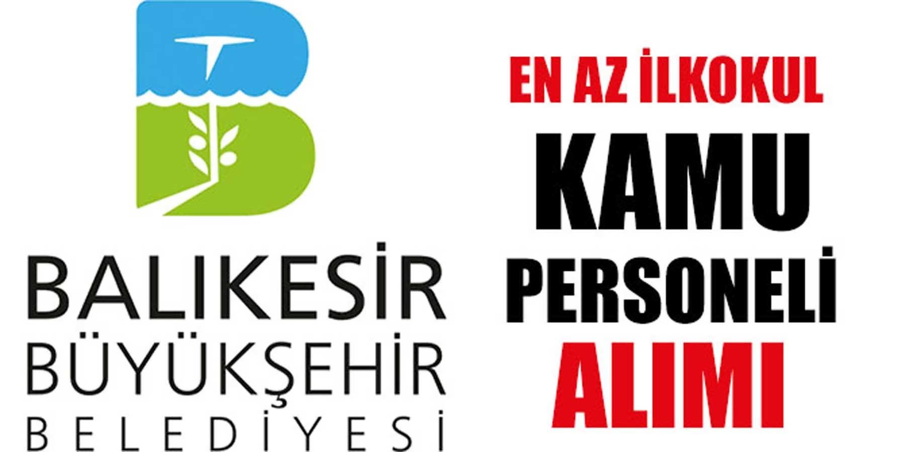 Balıkesir KPSS' Siz 5 Kamu Personeli Alımı