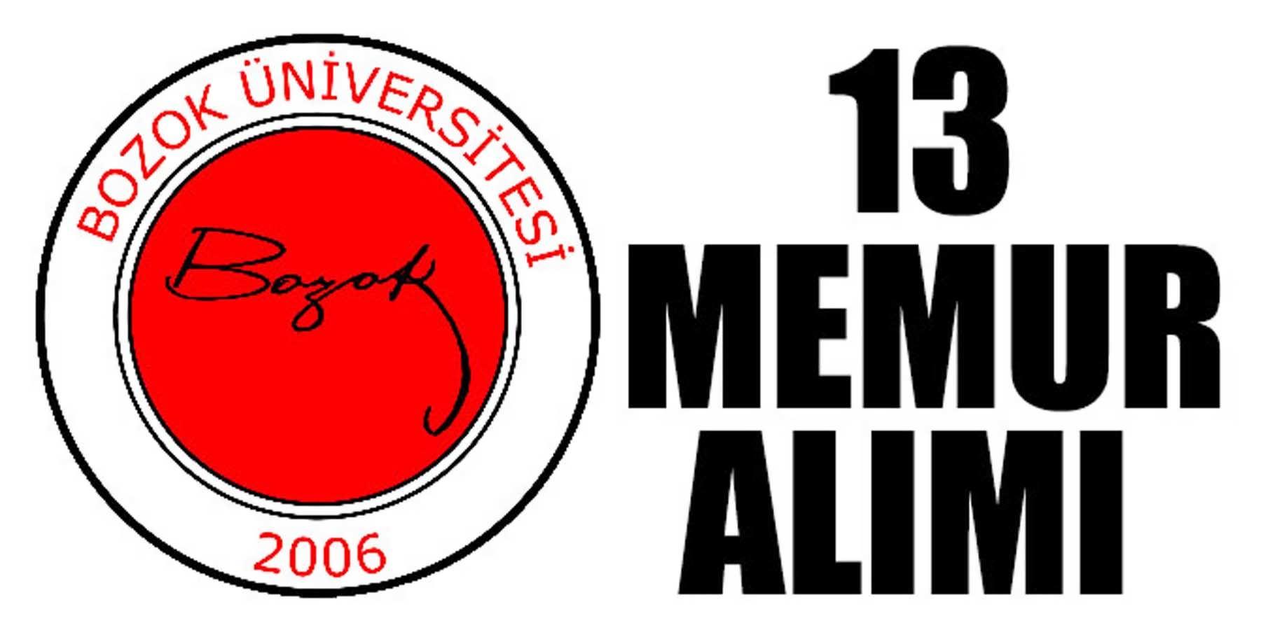 Yozgat Bozok Üniversitesi Önlisans Lisans Mezun 13 Memur Alımı
