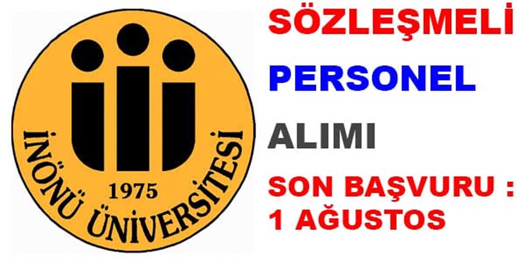 İnönü Üniversitesi Sözleşmeli Personel Alımı