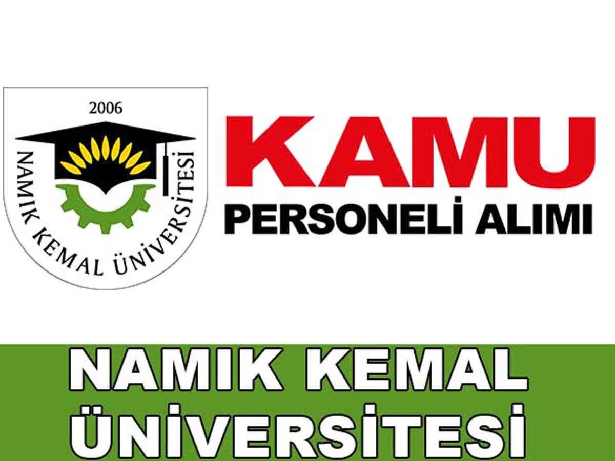 Namık Kemal Üniversitesi Sağlık Personeli Alımı 2016