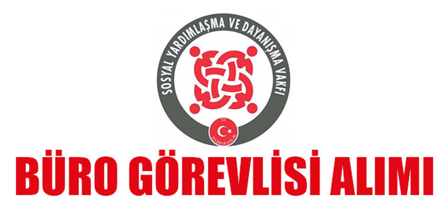 SYDV Trabzon Büro Görevlisi Alımı