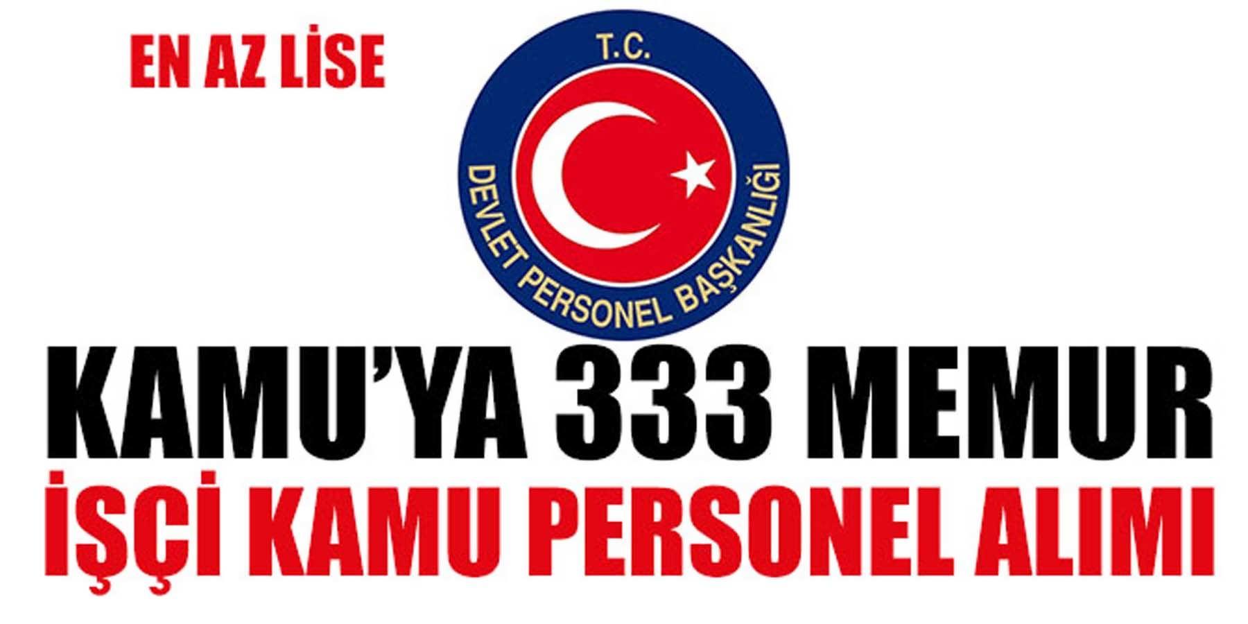 DPB Kamu'ya 333 Memur, İşçi ve Kamu Personeli Alımı